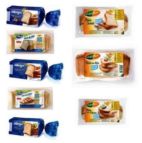 Différents pains de mie