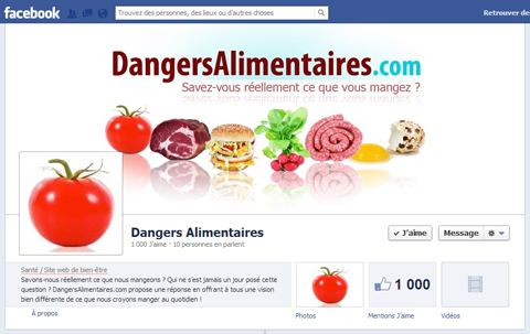 Dangers Alimentaires - Page Facebook 1K