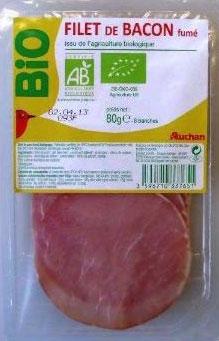 Bacon Bio Auchan