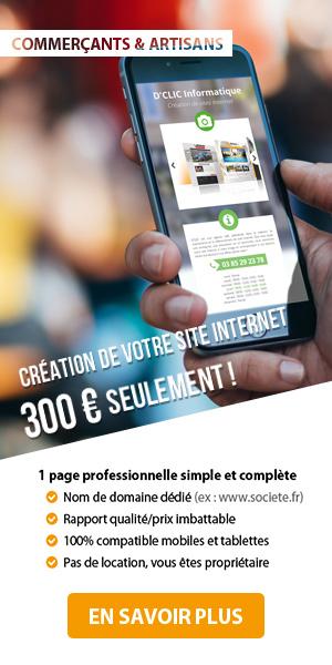 Création de site Internet pour 300 € HT