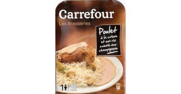 Carrefour - Poulet creme riz champignons