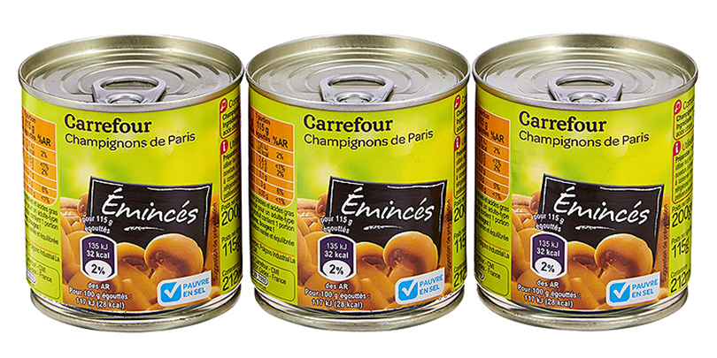 Emincés de champignons - Carrefour