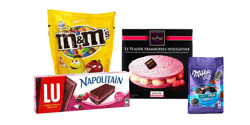 Gâteaux bonbons aux nanoparticules de dioxyde de titane