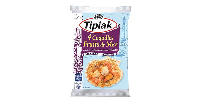 Tipiak - 4 coquilles fruits de mer