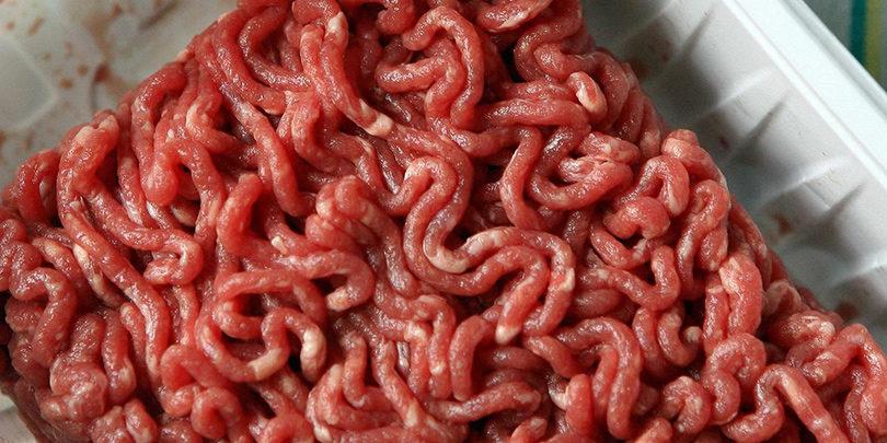 Barquette de viande hachée e-coli